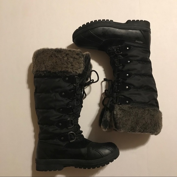 Lace Up Faux Fur Aquatherm Winter Boots